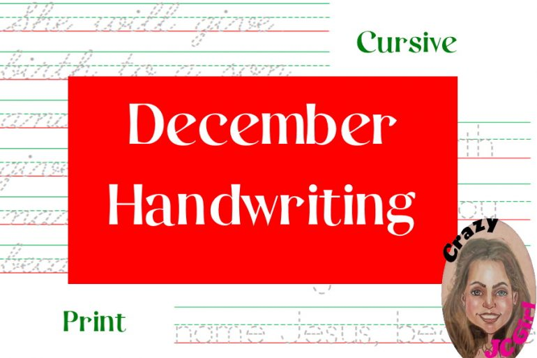 December Handwriting - crazyJCgirl.com