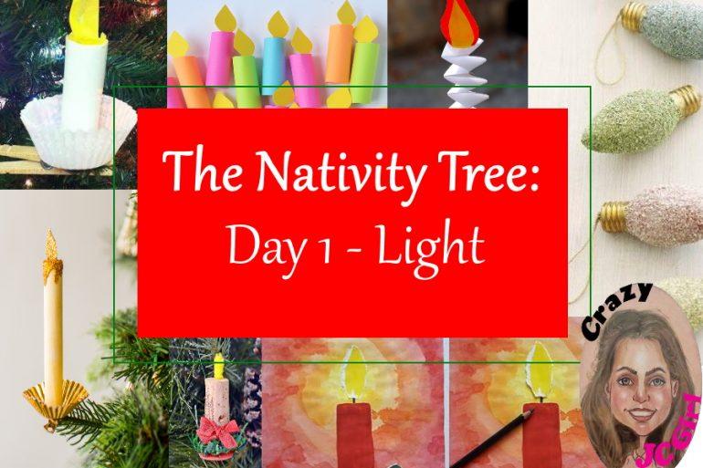 Nativity Tree Day 1 Light - crazyJCgirl.com