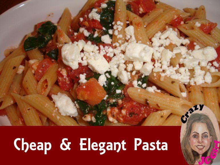 Cheap & Elegant Pasta recipe - crazyJCgirl.com