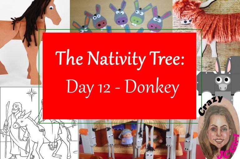 Nativity Tree Day 12 Donkey - crazyJCgirl.com