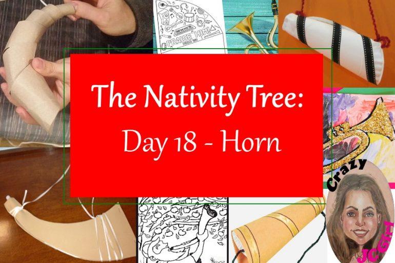 Nativity Tree Day 18 Horn - crazyJCgirl.com