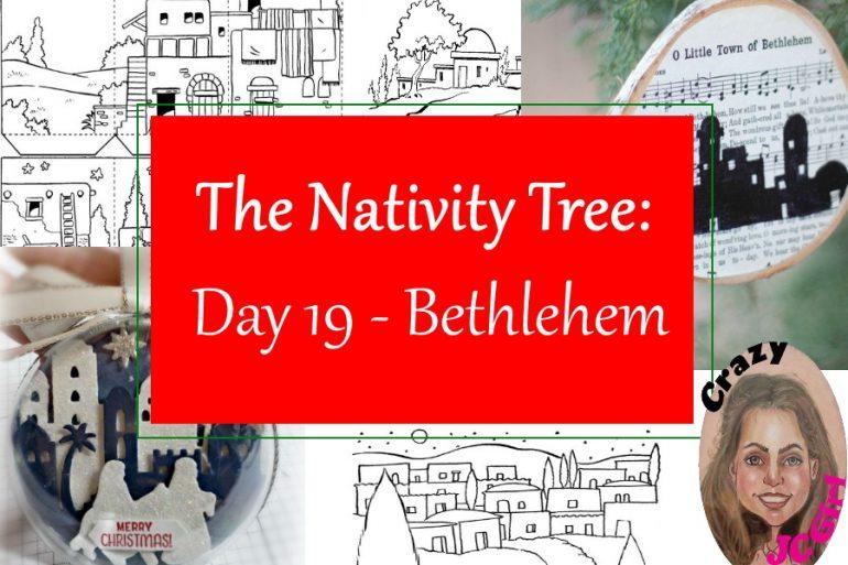 Nativity Tree Day 19 Bethlehem - crazyJCgirl.com