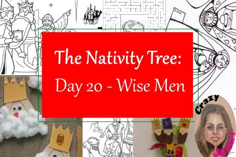 Nativity Tree Day 20 Wise Men - crazyJCgirl.com