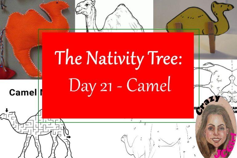 Nativity Tree Day 21 Camel - crazyJCgirl.com