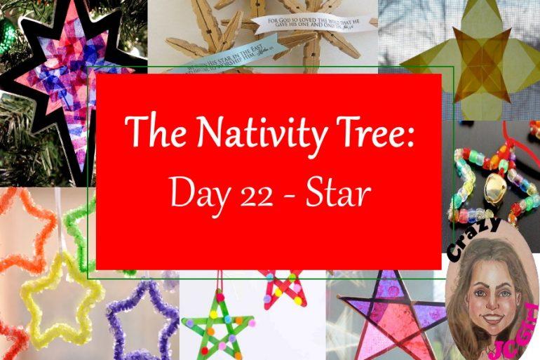 Nativity Tree Day 22 Star - crazyJCgirl.com
