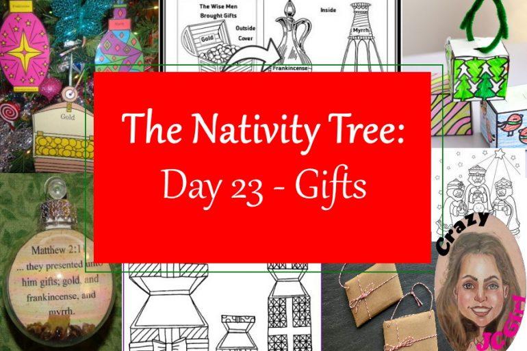 Nativity Tree Day 23 Gifts - crazyJCgirl.com