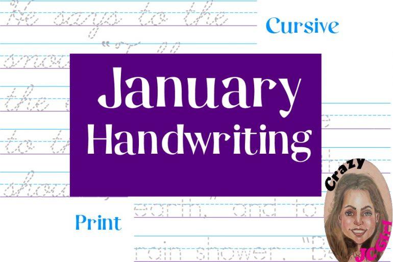 January Handwriting - crazyJCgirl.com
