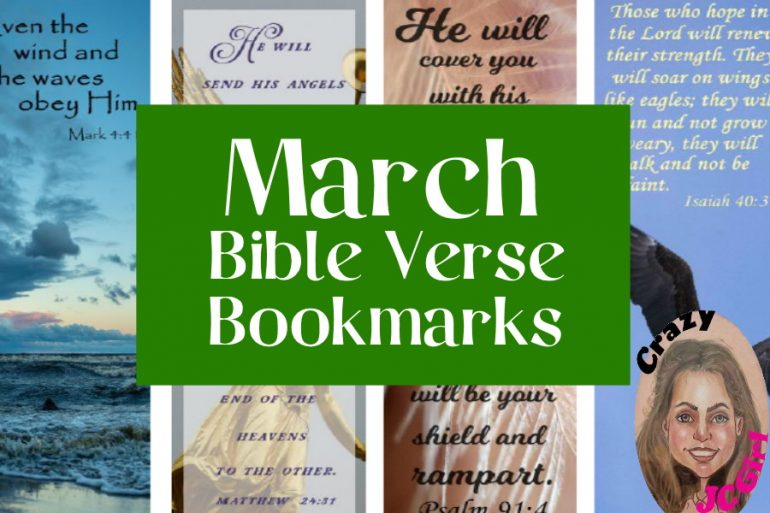March Bible Verse Bookmarks - crazyJCgirl.com