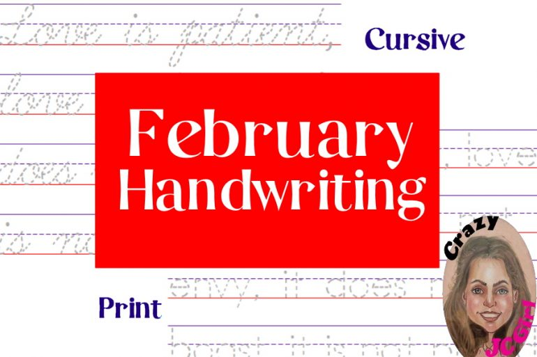 February Handwriting - crazyJCgirl.com