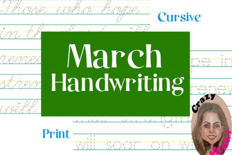 March Handwriting - crazyJCgirl.com