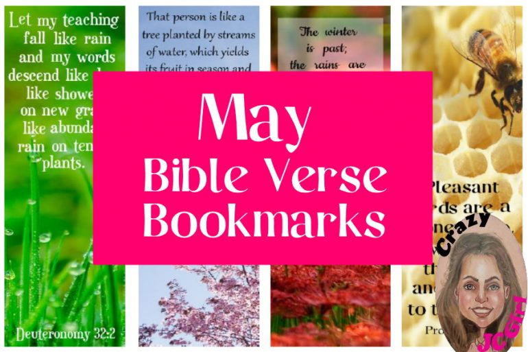 May Bible Verse Bookmarks - crazyJCgirl.com