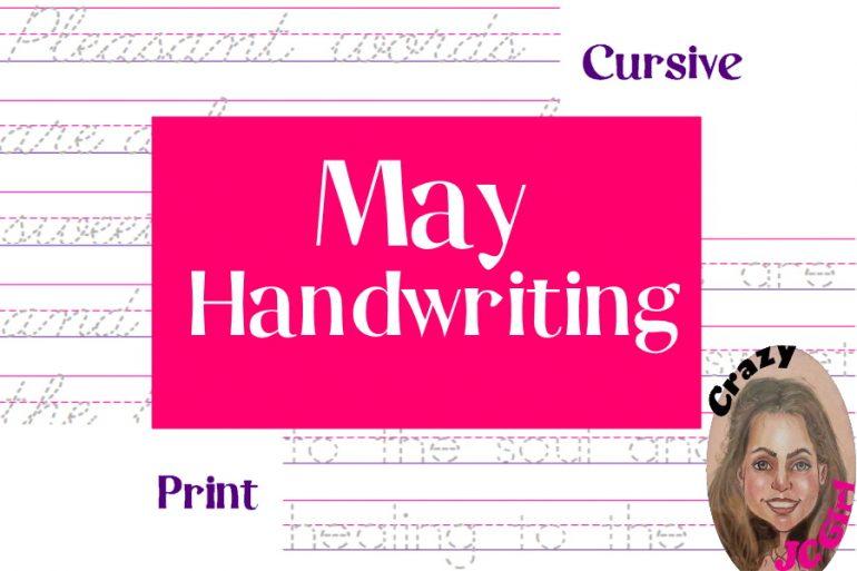 May Handwriting - printable - crazyJCgirl.com