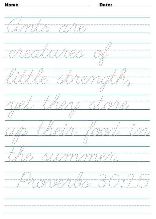 June sample cursive - crazyJCgirl.com