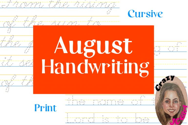 August Handwriting - crazyJCgirl.com