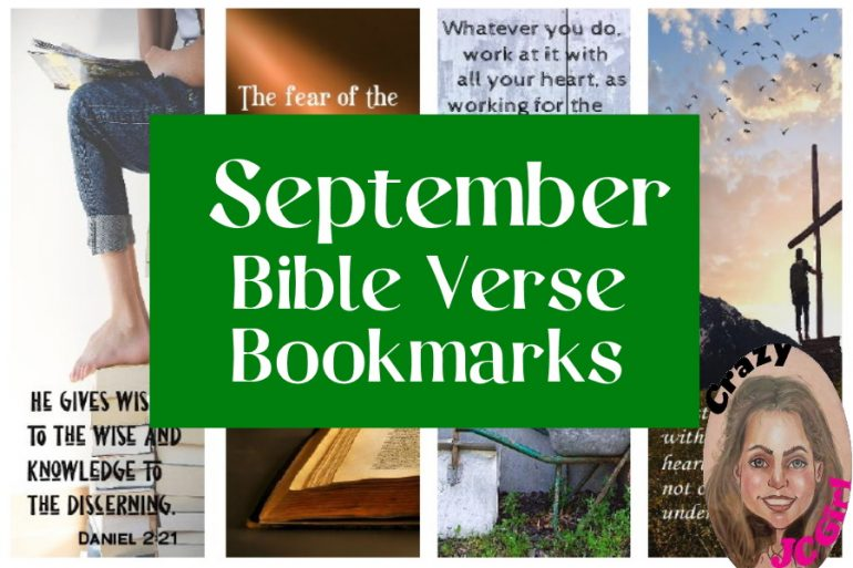 September Bible Verse Bookmarks - crazyJCgirl.com