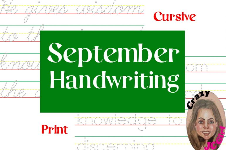September Handwriting - crazyJCgirl.com