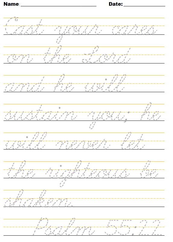 October cursive sample ~ crazyJCgirl.com
