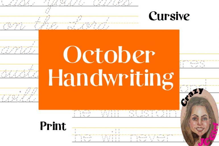 October Handwriting - crazyJCgirl.com