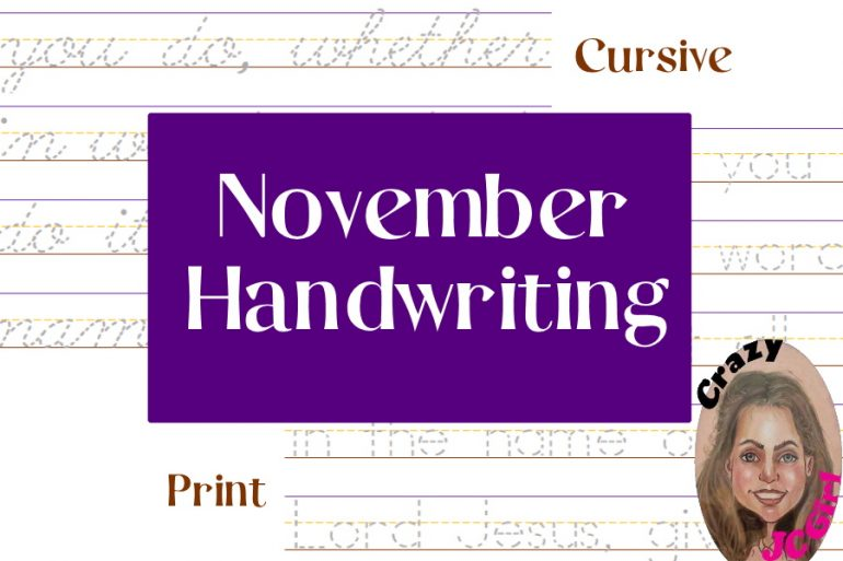 November Handwriting - crazyJCgirl.com