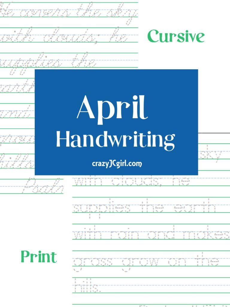 April Handwriting - crazyJCgirl.com