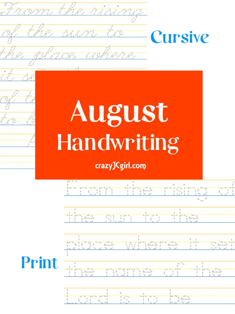 August Handwriting - crazyJCgirl.com
