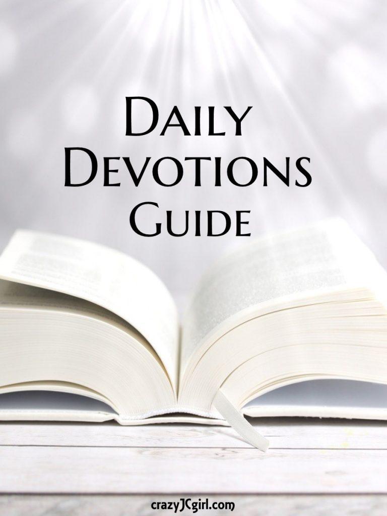 Daily Devotions Guide - crazyJCgirl.com