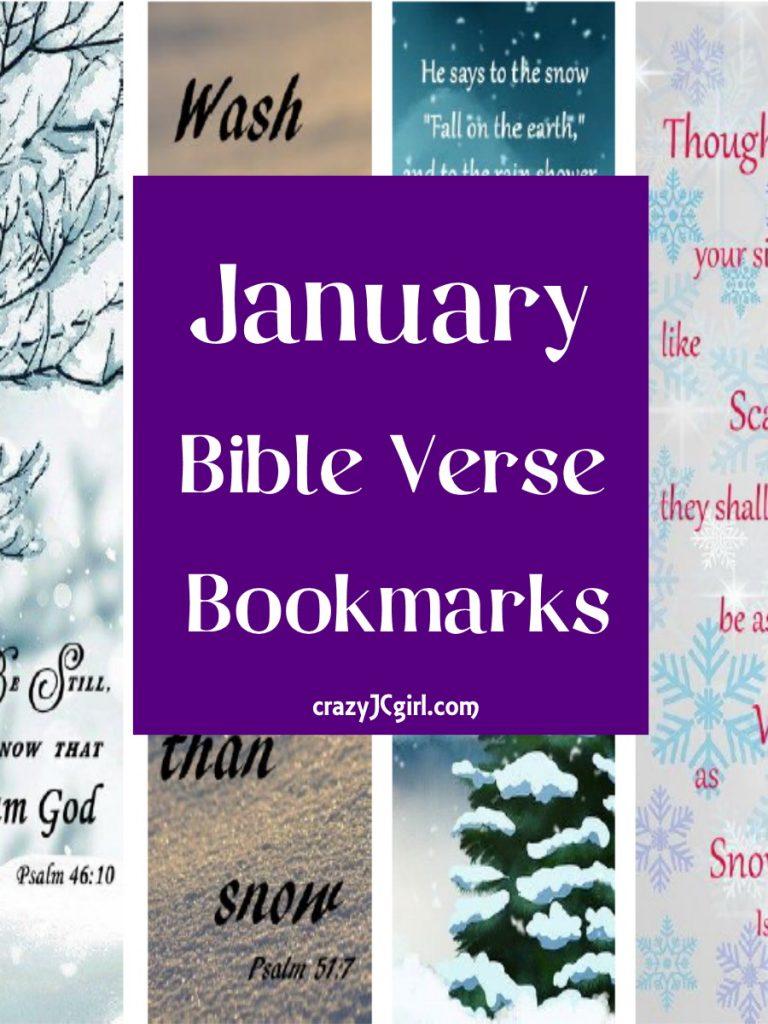 January Bible Verse Bookmarks - crazyJCgirl.com