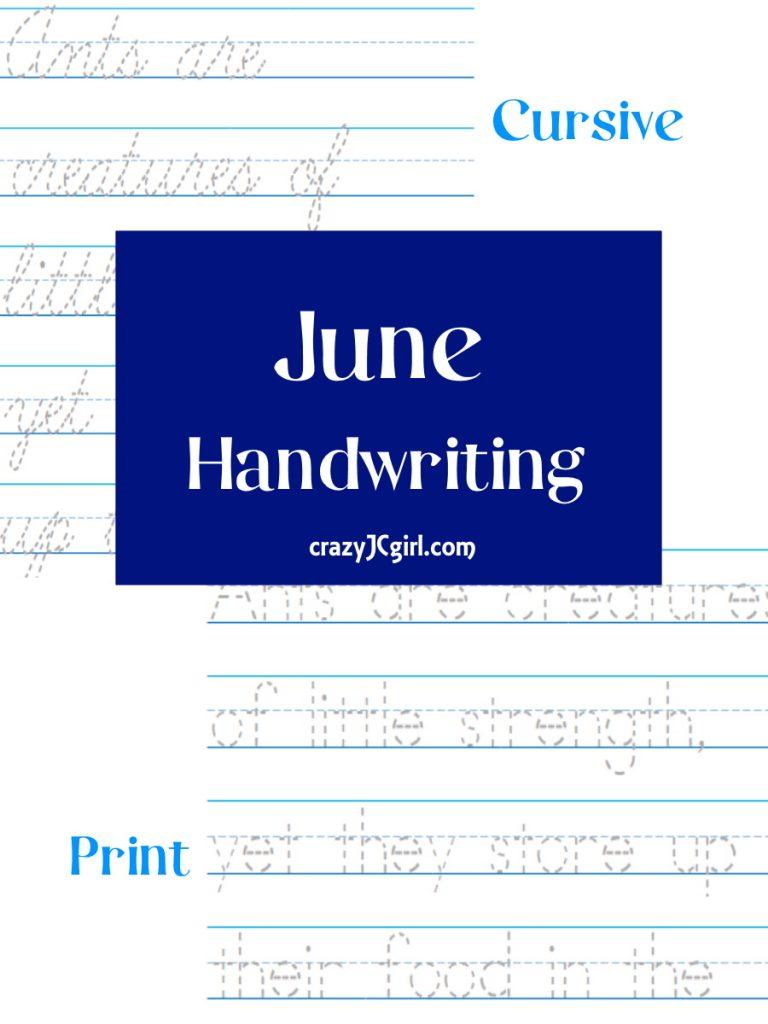 June Handwriting - crazyJCgirl.com