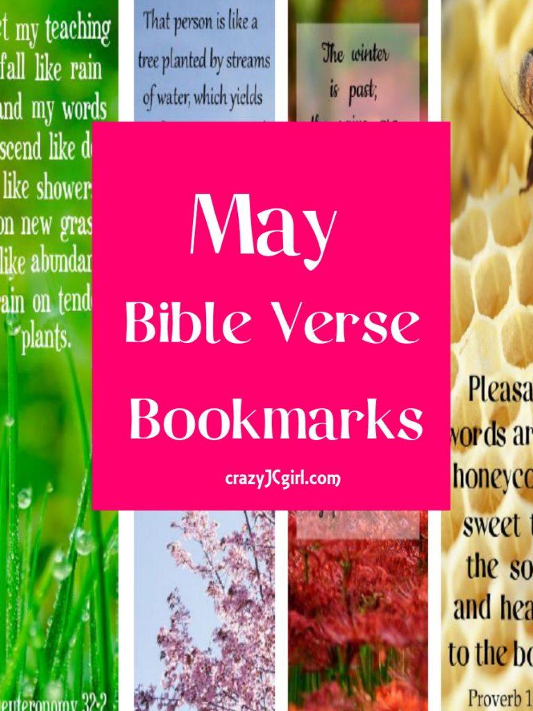 May Bible Verse Bookmarks - crazyJCgirl.com