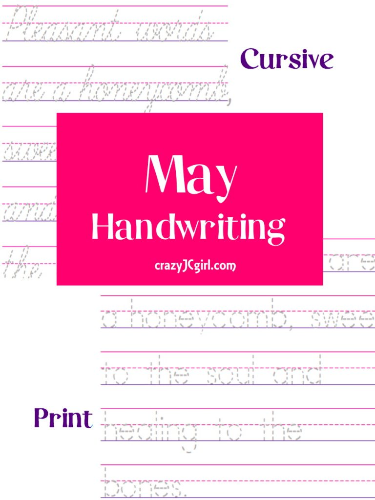 May Handwriting - crazyJCgirl.com