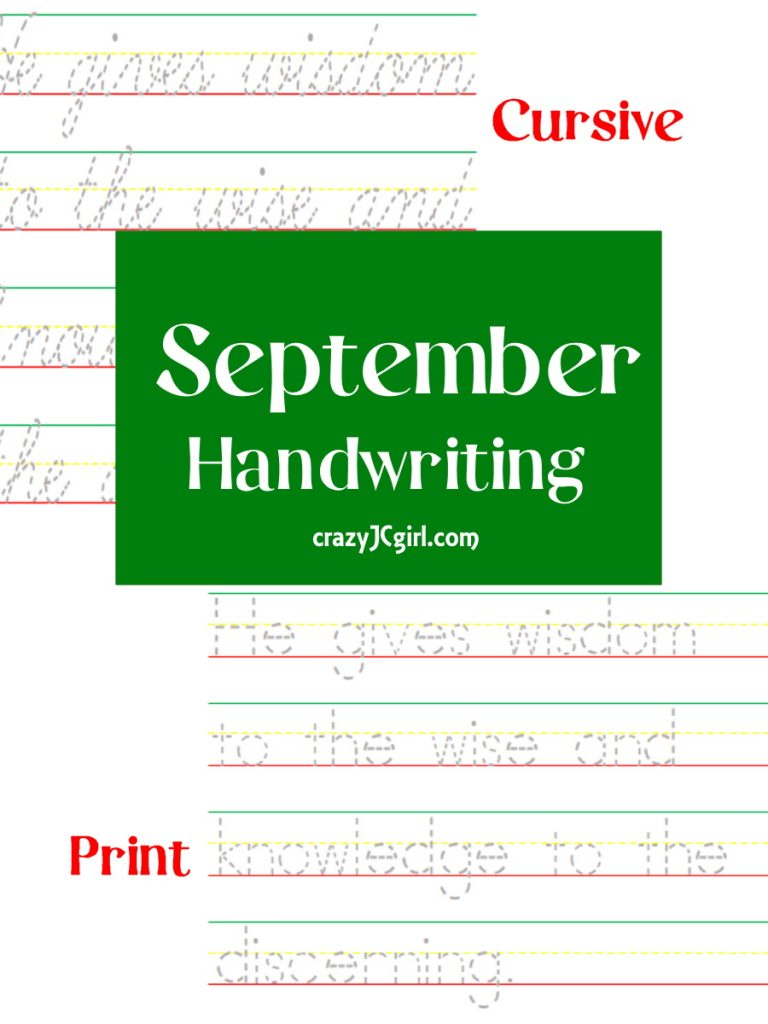 September Handwriting - crazyJCgirl.com