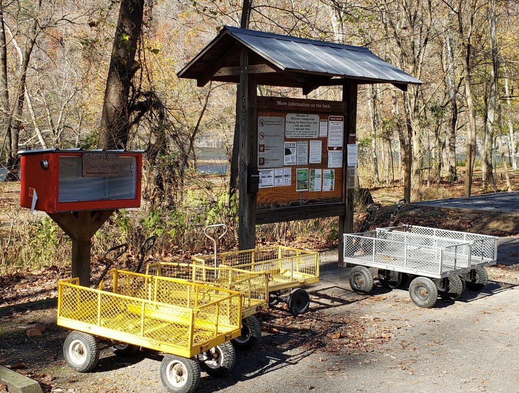 Wagons at Millrace Campground - crazyJCgirl.com